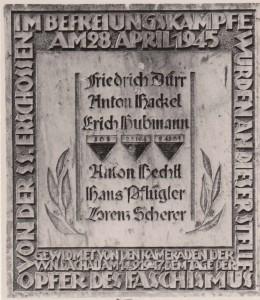 Gedenktafel Rathausplatz Dachau