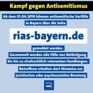 Antisemitismus Meldestelle Bayern